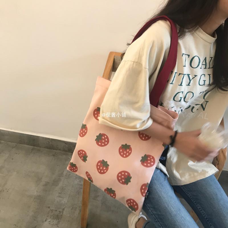 【倪酱小铺】日系少女可爱单肩帆布包