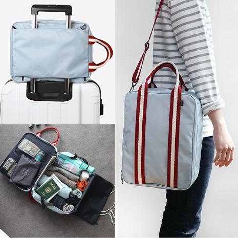 Du lịch ở nước ngoài túi lưu trữ di động có thể được thiết lập hành lý xe đẩy túi du lịch lưu trữ quần áo túi trang điểm rửa túi