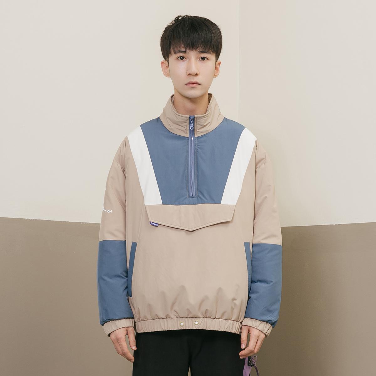 Áo khoác trẻ trung COKEIN mùa đông 2019 áo khoác cotton mới phiên bản Hàn Quốc của xu hướng màu sắc áo khoác ngắn được may bằng vải bông - Bông