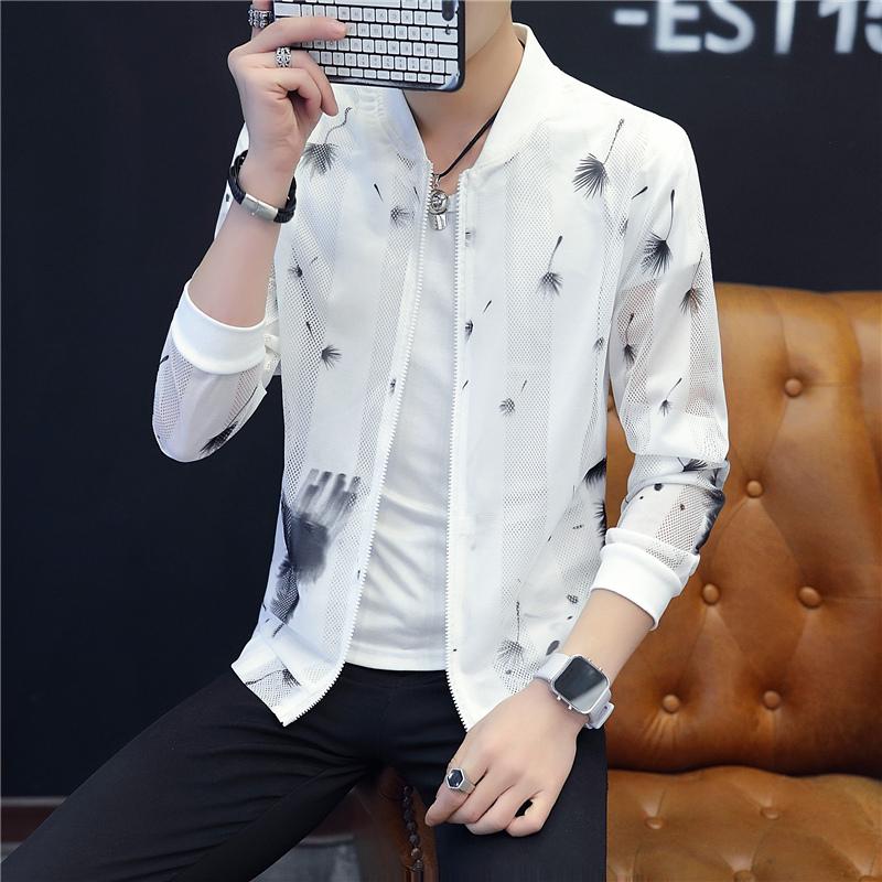2018 mùa hè mặt trời bảo vệ quần áo nam áo khoác nam giới Hàn Quốc thường kích thước lớn áo khoác nam giới chống mite quần áo mỏng phần nhíp