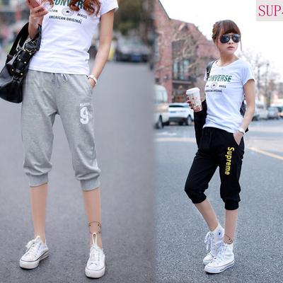 Hàn Quốc phiên bản của triều mùa hè bông mỏng phần thể thao bảy điểm quần short của phụ nữ lỏng lẻo kích thước lớn sinh viên bình thường 7 điểm trong quần