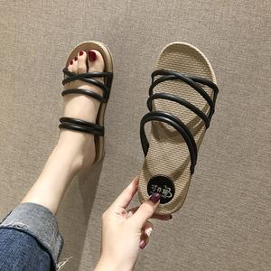 网红凉鞋仙女风百搭时尚一鞋两穿凉拖鞋