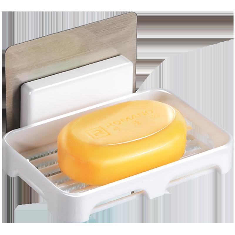 满12元可用3元优惠券大号创意浴室香皂架吸盘沥水肥皂盒