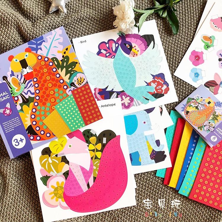 Bé chơi mideer Milu DIY art dán ba chiều dán khảm chấm tranh vẽ thẻ đồ chơi sáng tạo - Handmade / Creative DIY