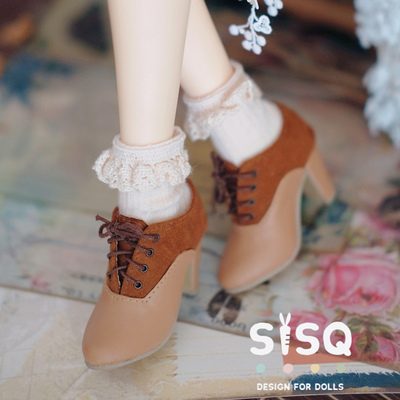taobao agent Japanese color-blocking high heels 1/3 BJD shoes SD16 GR Female Dragon Soul DD AS Xiong Mei MDD 1/4