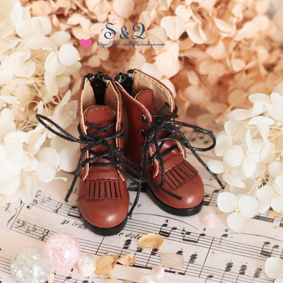 taobao agent Fringed lace short boots BJD1/4 1/6 imda3.0 six-point baby shoes msd mdd shoes giant baby RL