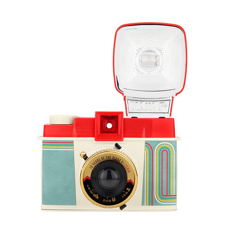 Road shop chợ đen spot lomo máy ảnh Diana Diana F + phim máy ảnh với đèn flash