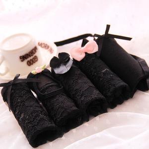 Cô gái Nhật Bản đồ lót sexy ren bí ẩn đen thấp eo tam giác tóm tắt phụ nữ đồ lót hộp quà tặng