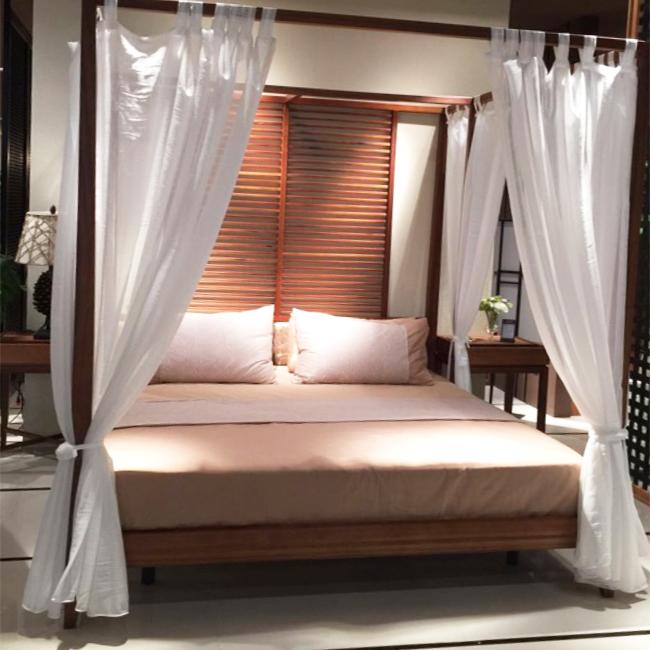 Đông Nam Á phong cách Mỹ- phong cách Trung Quốc chủ đề khách sạn trọ giường 幔 幔 bốn bài kệ công chúa tùy chỉnh đám cưới giường bức màn
