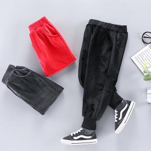 中小童金丝绒双面复合加厚长裤