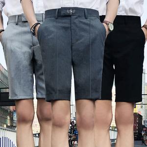 夏季新款英伦潮男夜店发型师韩版修身休闲短裤GD121P65控80
