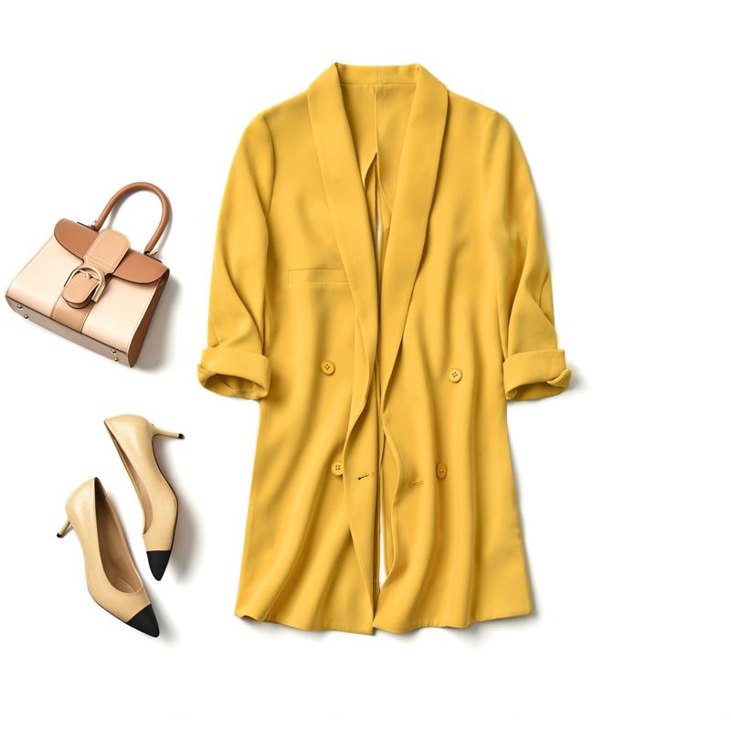 18 mùa thu mặc ra sự tự tin của bạn phong cách, sau khi chia màu xanh lá cây trái cây cổ áo phù hợp với áo khoác gạo sâu thích ăn cơm
