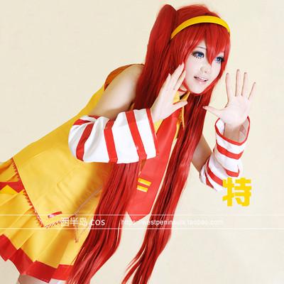 taobao agent McDonald's Hatsune MIKU COS clothing Blue Road mikuo cosplay clothing