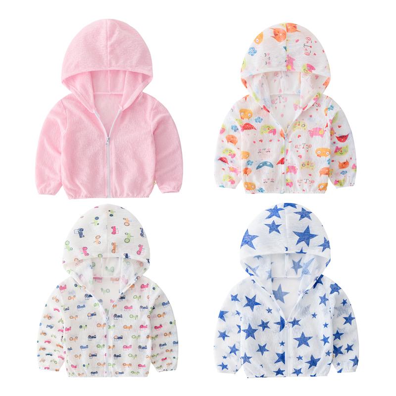 Bé quần áo chống nắng bảo vệ UV bé thở 1-3 tuổi trẻ em quần áo chống nắng trẻ em trai và bé gái điều hòa không khí áo sơ mi