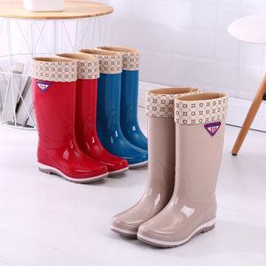 2020时尚款雨鞋女雨靴套鞋外穿百搭胶鞋女士中筒高筒水鞋男女水靴