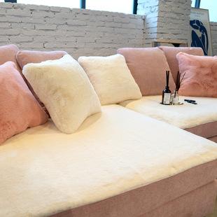 莫耐河皮草保暖兔毛柔软皮沙发坐垫