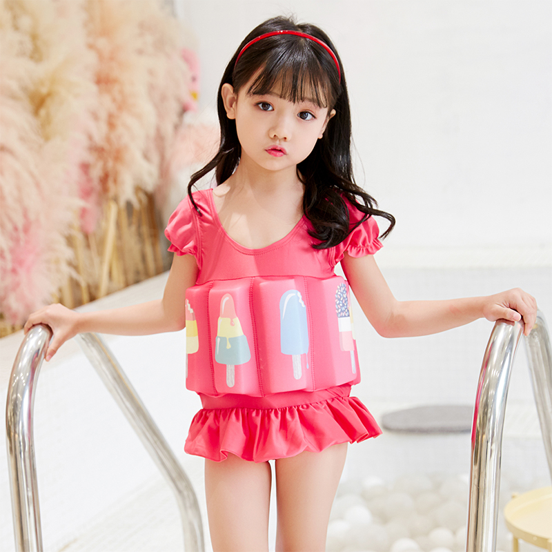 Foam swimsuit, toddler buoyancy vest, lifejacket