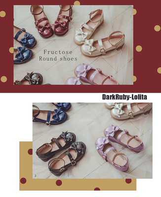taobao agent 【Fairydream special clearance spot】National brand lolita DarkRuby fruit candy shoes