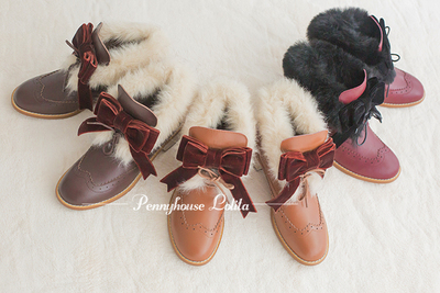 taobao agent 【Fairydream spot】National brand lolita PennyHouse leather and leather short boots
