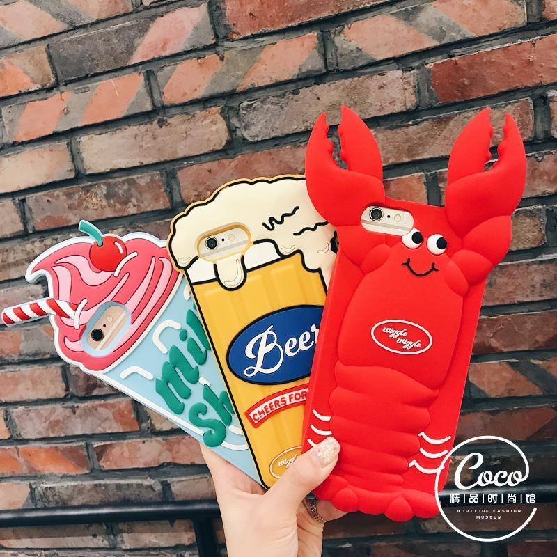 日韩龙虾啤酒冰激凌雪糕<font color='red'><b>iPhone</b></font>手机壳