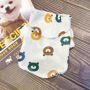 Chó mùa hè quần áo thú cưng Teddy pháp luật chiến đấu chó nhỏ ăn mặc mùa hè chó con chó mèo mùa hè phần mỏng quần áo - Quần áo & phụ kiện thú cưng