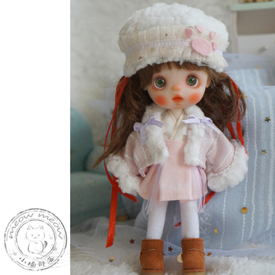 taobao agent Xiao Meow ob11 BJD bjd baby clothes and Chinese elements set 6 points 8 points small cloth antique cross collar material package finished product