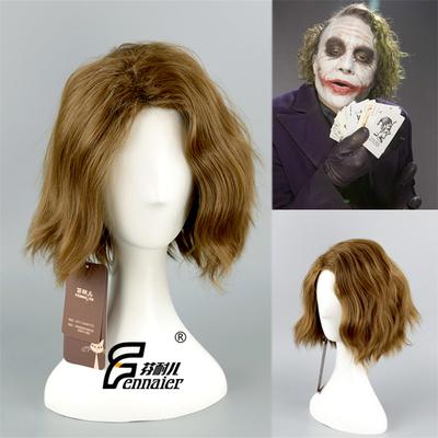 taobao agent Fenner linen green clown short hair Batman dark knight joker perm short curly hair cos wig