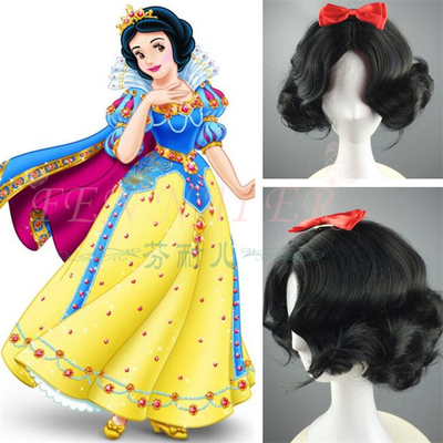 taobao agent Fenner Spot Disney Princess Snow White Foreign Trade Short Wave Curly Hair Cos Anime Wig A1815