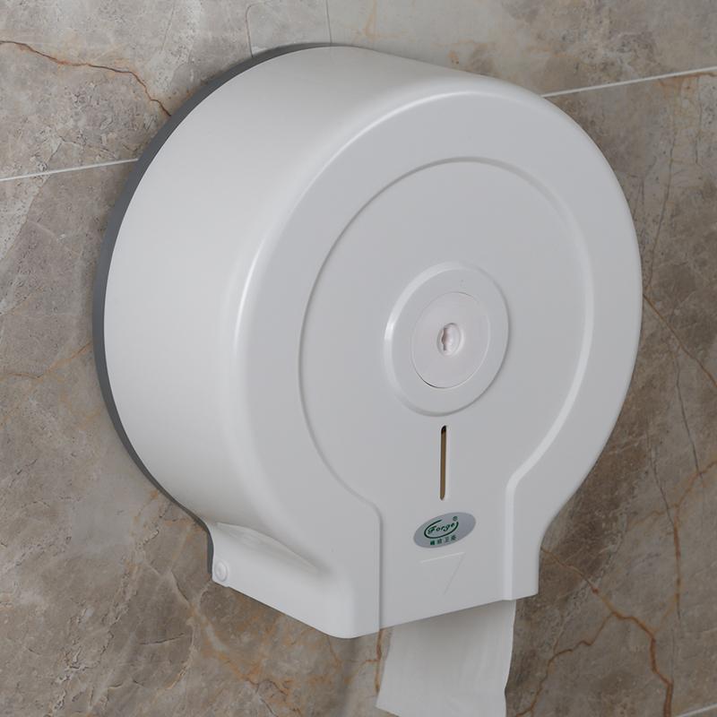 酒店厕所纸巾盒卫生间免打孔大盘纸家用洗手间防水壁挂式大卷纸盒_淘宝优惠券
