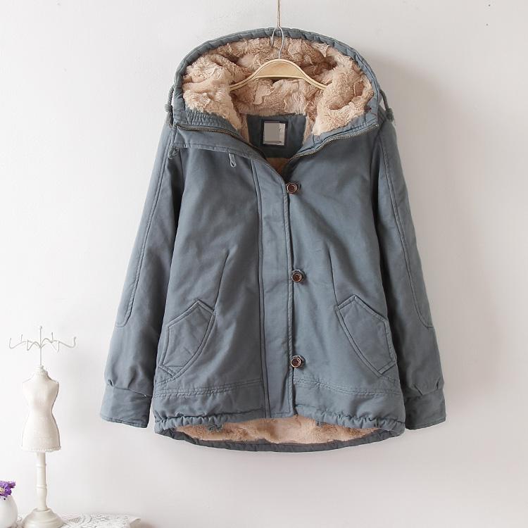 Chống mùa bông áo khoác 2018 mới Hàn Quốc ngắn bông quần áo mùa đông sang trọng áo khoác lông cừu nữ dày bông quần áo