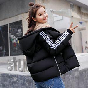 2018 mùa đông mới xuống bông pad phụ nữ ngắn trùm đầu sinh viên bông Hàn Quốc phiên bản của mỏng áo khoác thời trang bông nhỏ áo khoác