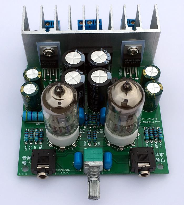 hifi发烧6j1电子管前级推lm1875t小功放机胆机功放板耳放diy制作