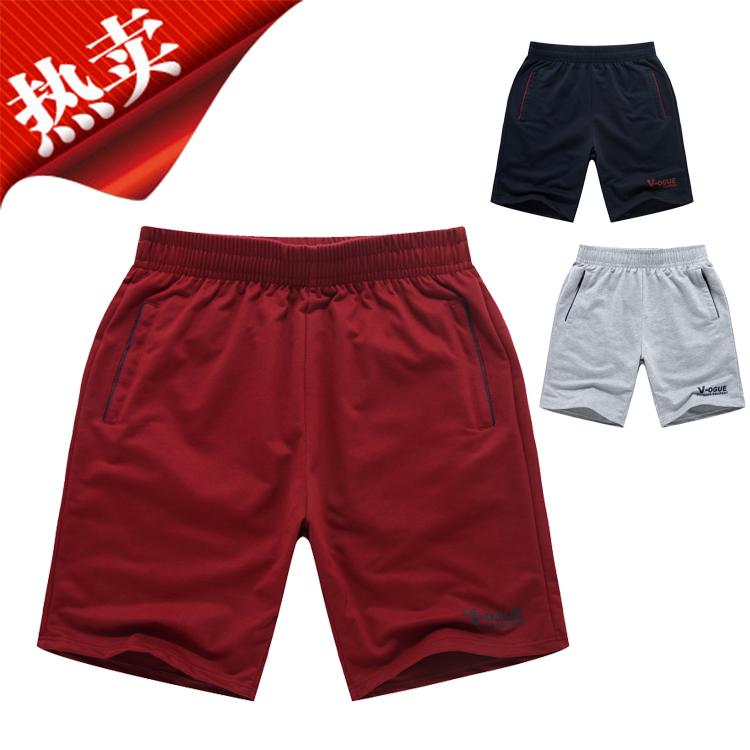 [Hàng ngày đặc biệt] quần short thể thao chạy thoáng khí mồ hôi thấm bóng màu xanh XL năm quần quần short giản dị của nam giới thủy triều