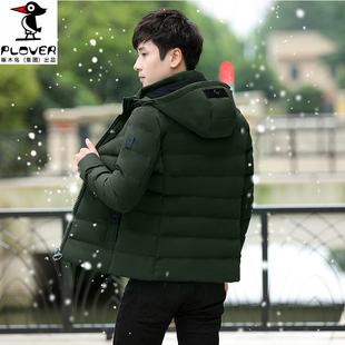 啄木鸟新款羽绒棉服男士外套