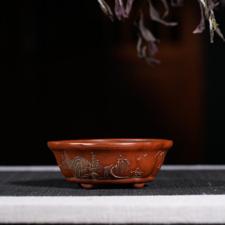 Sớm màu tím cát lọ hoa thịt mini lọ hoa Cộng Hòa của Trung Quốc handmade các đối tượng cũ sưu tầm cổ đặc biệt
