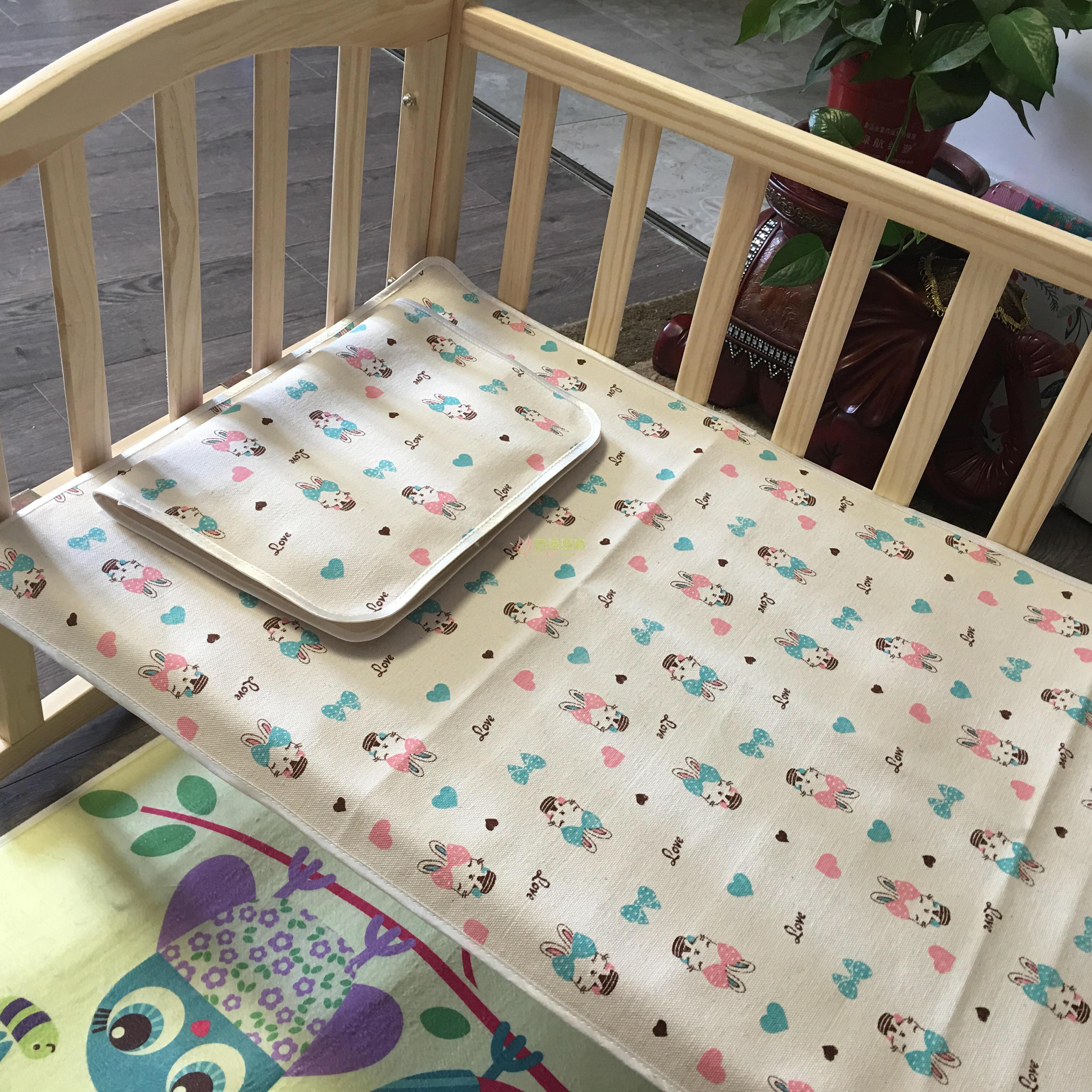 Trẻ em của bé sơ sinh mùa hè mat cotton dày vải cũ giường nhỏ mat cotton cũ vải thô duy nhất