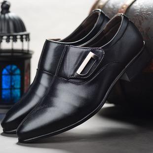 新款男士商务正装尖头皮鞋