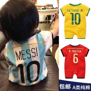 Argentina jersey bé phù hợp với bóng đá mùa hè 2018 World Cup nam bé áo bông bóng phù hợp với phù hợp với onesies