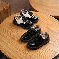 Весна 2019 новая коллекция детские башмак на мальчика черный кожаная обувь Учащиеся начальной и средней школы детские шоу туфли для отдыха башмак