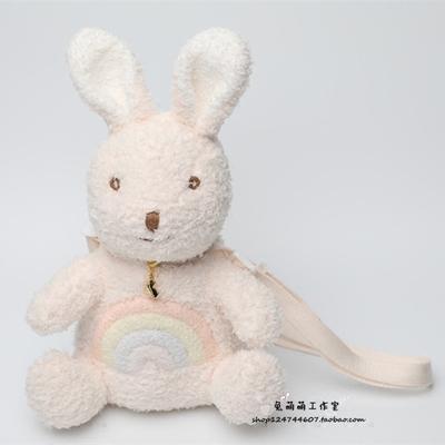 taobao agent Rainbow Rabbit Japanese girl cute plush rabbit bag, embroidery one-shoulder messenger bag, soft cute girl storage bag