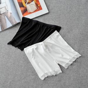 Mùa hè xà cạp quần short trắng quần an toàn bảo hiểm quần chống ánh sáng quần nữ sinh viên ren sinh viên cô gái