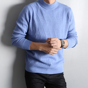 Ý thanh lịch chất lượng cao cashmere len nam nửa cao cổ áo thun áo len áo len DAZ364