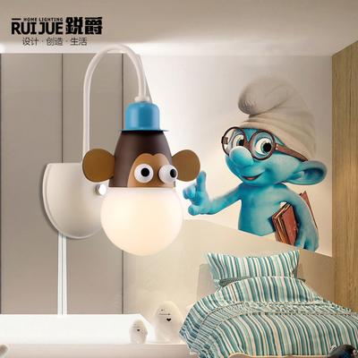 儿童壁灯创意卡通男孩卧室节能墙灯女孩房间温
