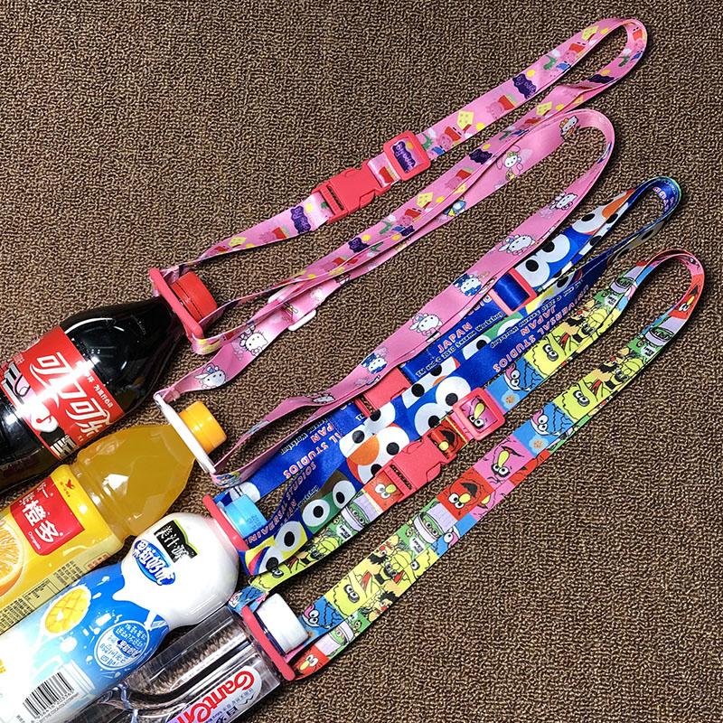 爆款芝麻街饮料瓶背带便携矿泉水瓶背水带卡扣挂绳斜挎杯套_淘宝优惠券