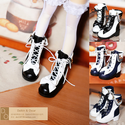 taobao agent DO spot bjd6 points female doll shoes 4 points giant baby 3 points dd mdd sd10 sailor star strap boots