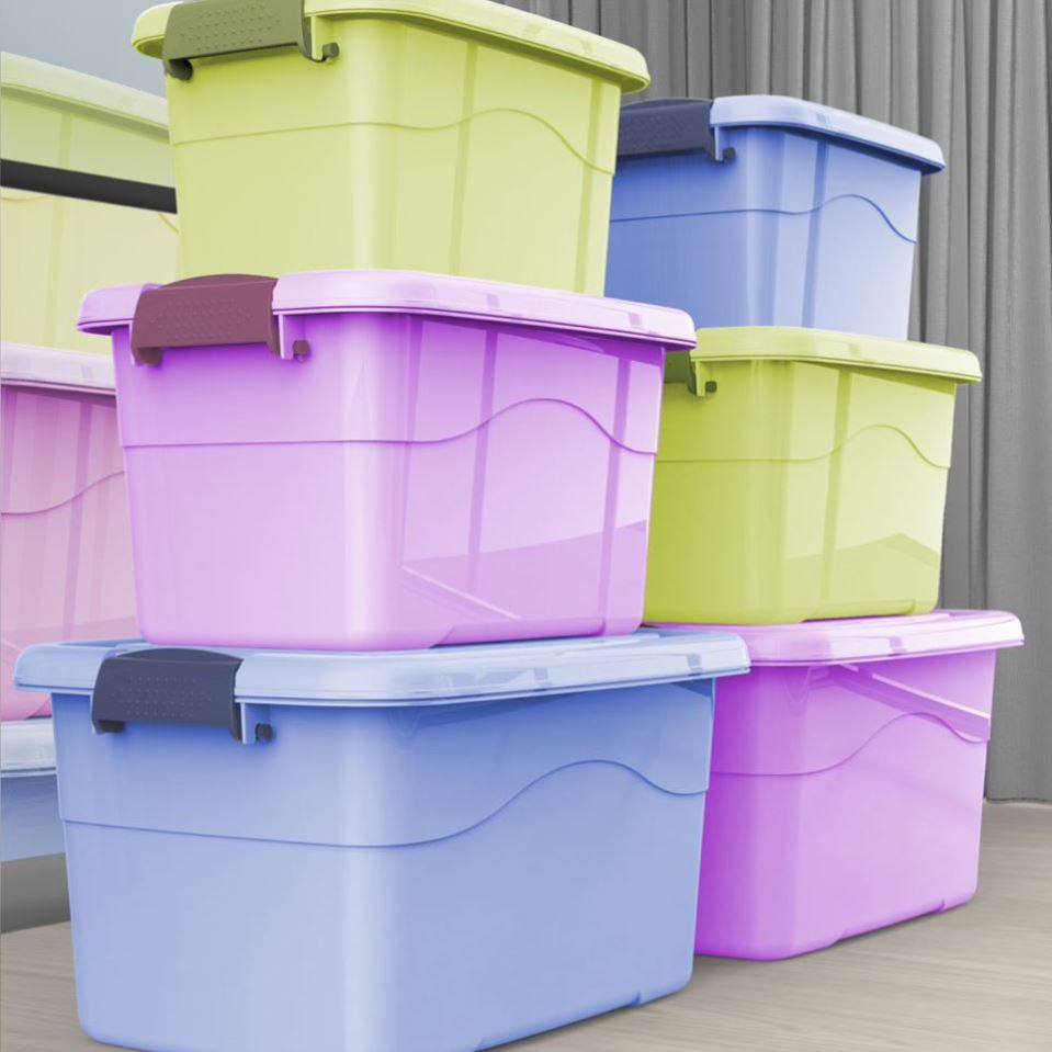 家用塑料收纳箱装衣服特大号收纳盒玩具整理