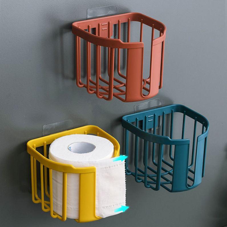 免打孔厕所纸巾盒卫生间置物架放卫生纸抽纸