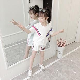 童装女孩夏季洋气时髦纯棉两件套