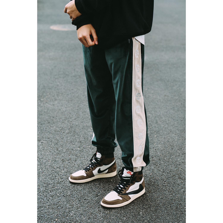 Tide Woo AIRWAY 19FW sọ dây nhung quần nam mùa thu và mùa đông chân dẹt thương hiệu quần âu - Quần mỏng