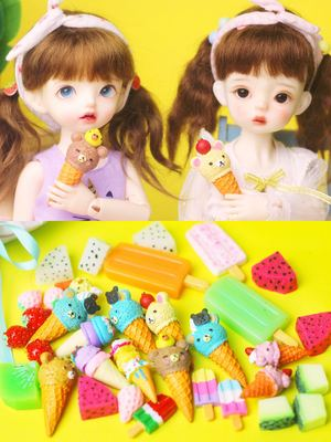 taobao agent bjd doll food play 346 points 20cm doll food play ice cream dessert simulation scene photo props accessories